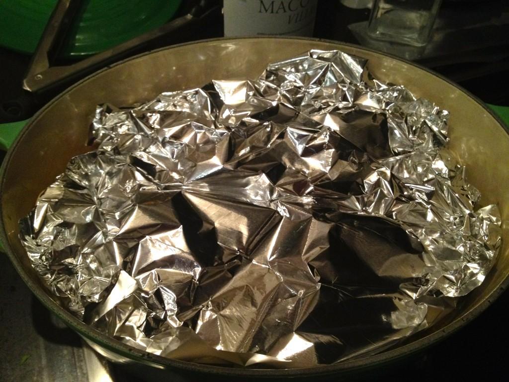 Tin Foil on Chicken