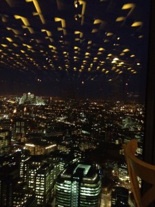 A view from our table, looking out towards East London