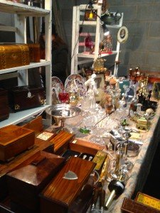 One of the stands at Bermondsey Antiques Market
