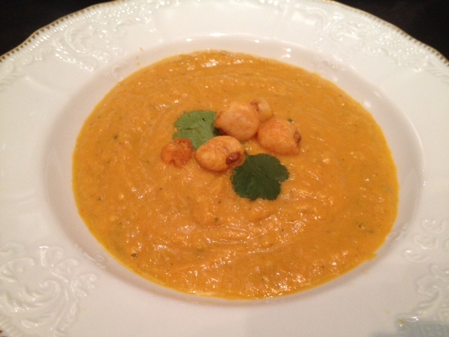 Pumpkin Soup with Cilantro