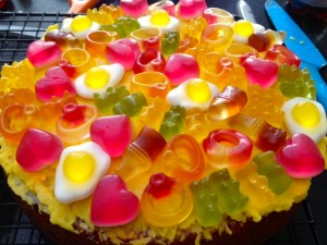 Layer of Gummies