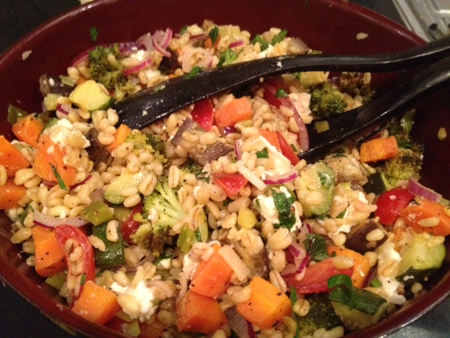 Roasted Vegetables and Barley Salad